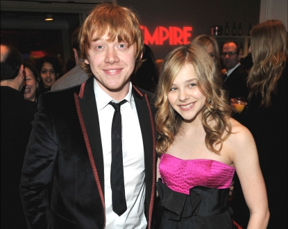Rupert Grint and Chloe Moretz attend the Jameson Empire Film Awards at The Grosvenor House Hotel in London on March 28, 2010