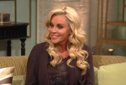 Jenny McCarthy stops by Access Hollywood Live on March 21, 2012