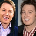 Clay Aiken in 2012 and the singer seen in 2008