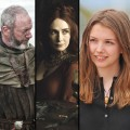 Stephen Dillane as Stannis, Liam Cunningham as Davos, Carice van Houten as Melisandre, Hannah Murray (who plays Gilly), Joe Dempsie as Gendry