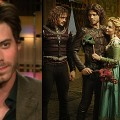 Francois Arnaud speaks with Access Hollywood (left) and in 'The Borgias' Season 2 (right)