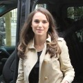 Natalie Portman arrives at the Dior offices in Paris on April 5, 2012 