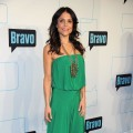 Bethenny Frankel sports a green pantsuit at Bravo Upfront 2012 at Center 548 in New York City on April 4, 2012