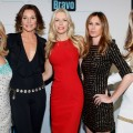 &#8216;The Real Housewives of New York City&#8217; stars Ramona Singer, LuAnn de Lesseps, Aviva Drescher, Caroline Radzwill, and Heather Thomson of The Real Housewives of NY attend the Bravo Upfront 2012 at Center 548 in New York City on April 4, 2012 