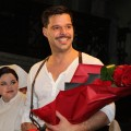 Ricky Martin takes the curtain call on Opening Night of 'Evita' on Broadway at the Marquis Theatre in New York City on April 5, 2012