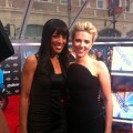 Scarlett Johansson and Shaun Robinson are two bombshells in black at the premiere of 'The Avengers' in Hollywood on April 11, 2012