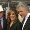 Larry Hagman, Linda Gray & Patrick Duffy Talk Half-Naked 'Dallas' Promo Shot