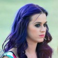 Katy Perry sports purple hair on Day 3 of the 2012 Coachella Valley Music & Arts Festival held at the Empire Polo Club in Indio, Calif. on April 15, 2012