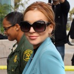 Lindsay Lohan arrives at the LAX Courthouse to attend a final status hearing relating to the criminal cases against her, in Los Angeles on March 29, 2012
