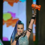 Katy perry accepts the Favorite Animated Movie Voice award for 'The Smurfs' onstage at Nickelodeon's 25th Annual Kids' Choice Awards held at Galen Center in Los Angeles on March 31, 2012