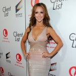 Jennifer Love Hewitt steps out at the red carpet launch party for Lifetime and Sony Pictures' 'The Client List' at Sunset Tower in West Hollywood, Calif. on April 4, 2012