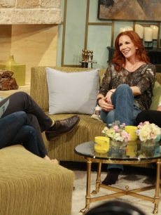 Billy Bush and Kit Hoover chat with 'Dancing with the Stars' contestant Melissa Gilbert and her partner Maksim Chmerkovskiy on Access Hollywood Live on March 30, 2012