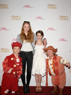 Sophie Turner and Maisie Williams attends the 'Mirror Mirror' UK Premiere at the Empire Cinema, London, on March 25, 2012