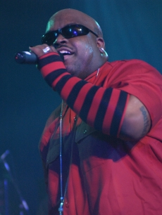 Cee Lo Green is seen on stage during the 2nd Annual Shortlist Music Awards Concert in Los Angeles on October 29, 2002