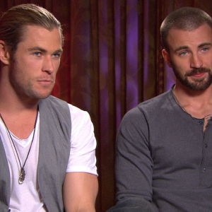 Chris Hemsworth &amp; Chris Evans Dish On &#8216;Captain America 2&#8217; &amp; &#8216;Thor 2&#8217;