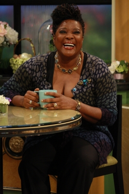 Loretta Devine of 'The Client List' flashes a smile on Access Hollywood Live on March 30, 2012