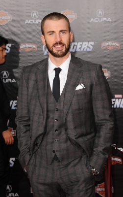 Chris Evans arrives at the premiere of Marvel Studios' 'The Avengers' at the El Capitan Theatre in Hollywood on April 11, 2012