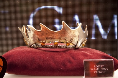 Robert Baratheon&#8217;s crown on display in the HBO shop in New York City, April 2012