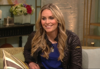 Lindsey Vonn appears on Access Hollywood Live on March 29, 2012