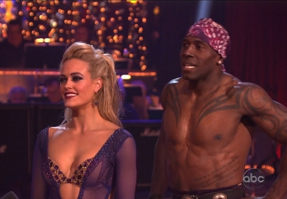 Peta Murgatroyd and Donald Driver on ABC's 'Dancing with the Stars,' April 9, 2012