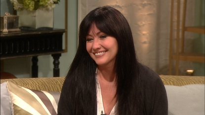 Shannen Doherty stops by Access Hollywood Live on April 10, 2012