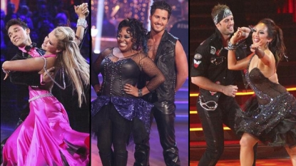 Roshon Fegan and Chelsie Hightower, Sherri Shepherd and Val Chmerkovskiy, William Levy and Cheryl Burke