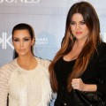 Kim Kardashian and Khloe Kardashian Odom step out at a promotional event for the Kardashian Kollection Handbag range at the David Jones Elizabeth Street Store in Sydney, Australia on November 3, 2011