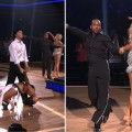 Gavin DeGraw and Karina Smirnoff compete against Jaleel White and Kym Johnson in the Bottom 2 dance-off on 'Dancing with the Stars,' April 17, 2012
