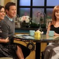 Kit Hoover and Billy Bush chat with Kathy Griffin on Access Hollywood Live on April 19, 2012