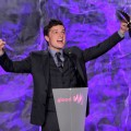 Josh Hutcherson accepts an award onstage at the 23rd Annual GLAAD Media Awards at Westin Bonaventure Hotel in Los Angeles on April 21, 2012