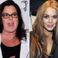 Rosie O'Donnell and Lindsay Lohan