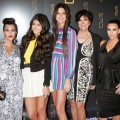 Kourtney Kardashian, Kylie Jenner, Kendall Jenner, Kris Jenner and Kim Kardashian attend the grand opening of RYU in New York City on April 23, 2012
