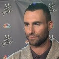 Adam Levine chats with Access Hollywood at 'The Voice' in Los Angeles on April 24, 2012