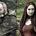 Liam Cunningham as Davos Seaworth, Carice van Houten as Melisandre in &#8216;Game of Thrones&#8217; Season 2