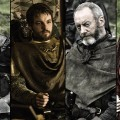 Stannis Baratheon, Renly Baratheon, Davos Seaworth, Melisandre in 'Game of Thrones' Season 2