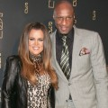 Khloe Kardashian and Lamar Odom attend the grand opening of RYU in New York City on April 23, 2012