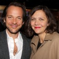 Peter Sarsgaard and Maggie Gyllenhaal are seen at the Broadway opening night of 'Death Of A Salesman' at the Barrymore Theatre in New York City on March 15, 2012