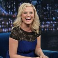 Amy Poehler has a laugh on &#8216;Late Night with Jimmy Fallon&#8217; in New York City on May 2, 2012