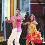 Maksim Chmerkovskiy and Melissa Gilbert perform during Latin week on 'Dancing,' April 16, 2012