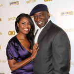 Omarosa Manigault Stallworth and Michael Clarke Duncan attend the OK! Magazine Pre-Grammy Event on February 10, 201