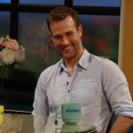 'Don't Trust the B---- in Apartment 23' star James Van Der Beek is all smiles on the set of Access Hollywood Live on May 2, 2012