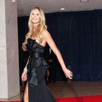 A stunning Elle Macpherson arrives at the 98th annual White House Correspondents' Association Dinner at the Washington Hilton on in Washington, DC on April 28, 2012