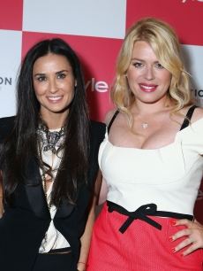 Demi Moore and Amanda de Cadenet are seen at InStyle&#8217;s celebration and the launch of &#8216;The Conversation with Amanda De Cadenet&#8217; at a private residence in Beverly Hills, Calif. on April 17, 2012