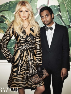 Kate Upton with Aziz Ansari in Harper's Bazaar, 2012