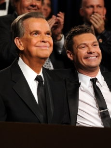 Dick Clark and Ryan Seacrest attend the 37th Annual Daytime Entertainment Emmy Awards held at the Las Vegas Hilton in Las Vegas on June 27, 2010