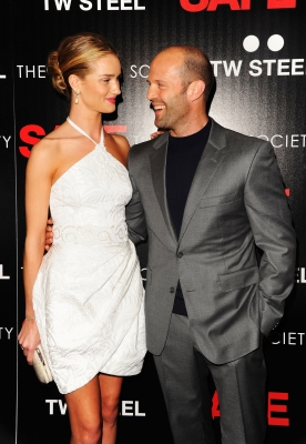 Rosie Huntington-Whiteley and Jason Statham attend the Lionsgate and IM Global with the Cinema Society screening of &#8216;Safe&#8217; at Chelsea Clearview Cinema, New York City, on April 16, 2012