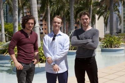 Kit Harington, Alfie Allen and Richard Madden promote 'Game of Thrones' in Miami, April 2012