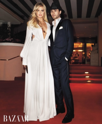 Kate Upton with Jared Leto in Harper&#8217;s Bazaar, 2012