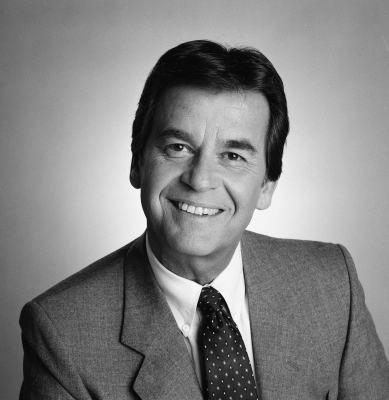 Dick Clark seen on February 25, 1985