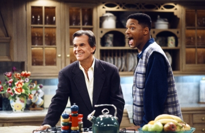 Dick Clark with Will Smith on 'The Fresh Prince of Bel Air,' March 11, 1994